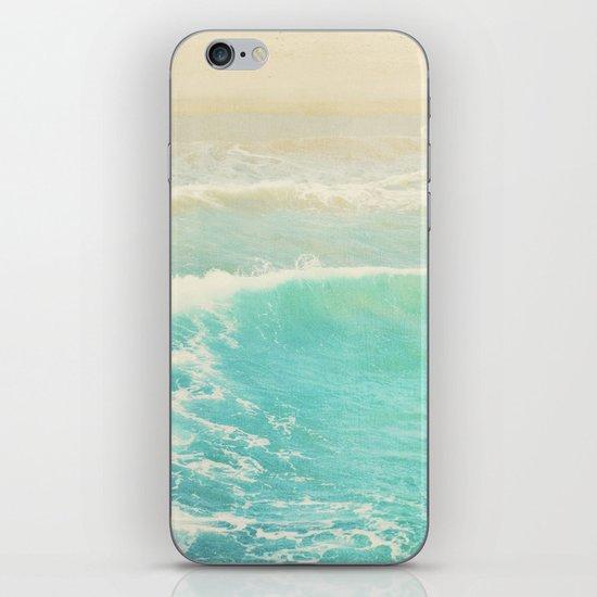 beach ocean wave. Surge. Hermosa Beach photograph iPhone & iPod Skin