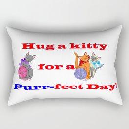 Hug a kitty for a purr-fect day, Cats Rectangular Pillow