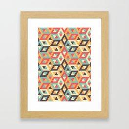 Pastel Geometric Pattern Framed Art Print