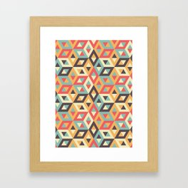 Pastel Geometric Pattern Framed Art Print