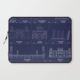 The Architecture of Pakistan Laptop Sleeve