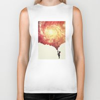geology Biker Tanks featuring The universe in a soap-bubble! (Awesome Space / Nebula / Galaxy Negative Space Artwork) by badbugs_art