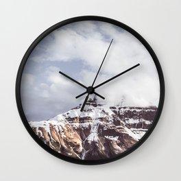Mountain and Sky Jasper Minimalism Wall Clock