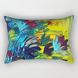 FLORA - Gorgeous Lemon Lime Citrine Chartreuse Floral Bouquet Garden Flowers Colorful Nature Beauty Rectangular Pillow
