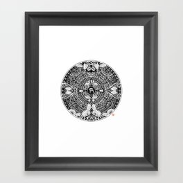 deer mandala Framed Art Print