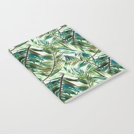 Leaf the jungle watercolor pattern Notebook