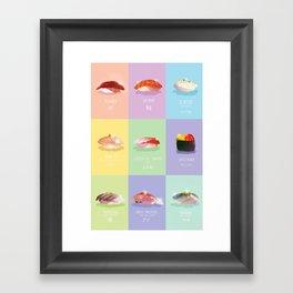 Omakase Sushi Framed Art Print