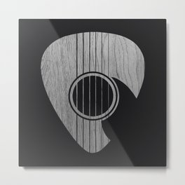 Strum... (White on Black) Metal Print