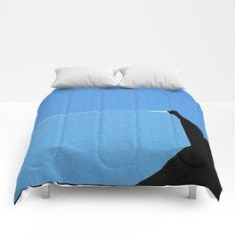 Minimalist Blue Sky Comforters