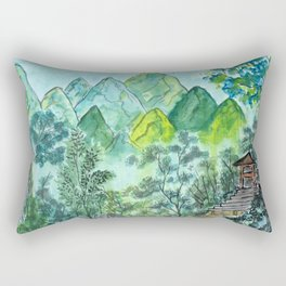 Emerald Woods Rectangular Pillow