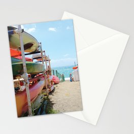 Kayaks in the Cinque Terre Stationery Cards