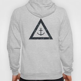 Vintage Anchor Black and White Hoody