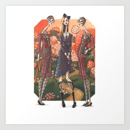 In Wonderland; A reimagined world merging literary figures and modern day fashion Art Print