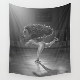 Ice Skater Wall Tapestry