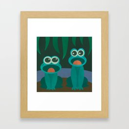 Frog Chorus Framed Art Print
