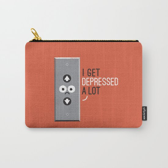 Feeling Down Carry-All Pouch