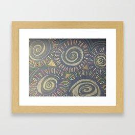 White on Blue Framed Art Print
