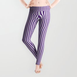 Purple Pinstripes Leggings