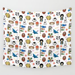 Lucky Japan Doodle Wall Tapestry