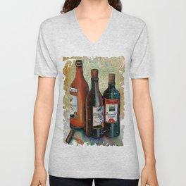 Vintage Georgian Wine Fresco Unisex V-Neck