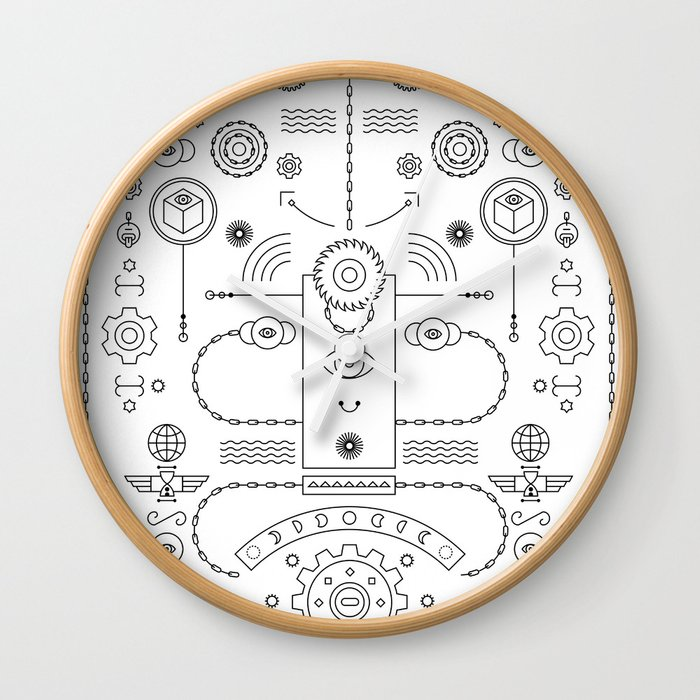 Time Lord Wall Clock By Relajaelcoco Society6