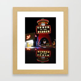 South of the Border: Reflections Framed Art Print