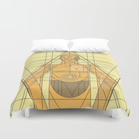 c3po Duvet Covers featuring C3PO Deco Droid by modHero