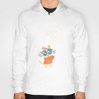 bonjour Hoodies featuring Bonjour by AronDraws