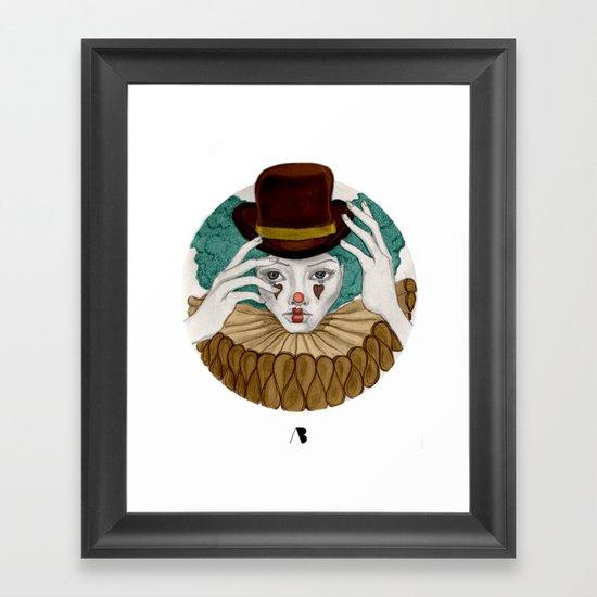 Pierrot...Pierrette Framed Art Print
