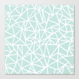 Ab Outline Thick Mint Canvas Print