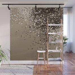 Sparkling Sepia Lady Glitter #1 #shiny #decor #art #society6 Wall Mural