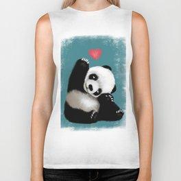 Panda Love (Color) Biker Tank