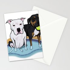 Pups In The Pool Stationery Cards