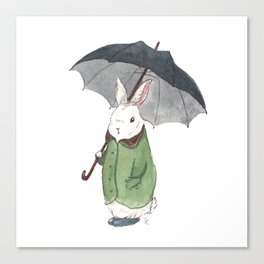Mr. Tibbles Loves the Rain Canvas Print