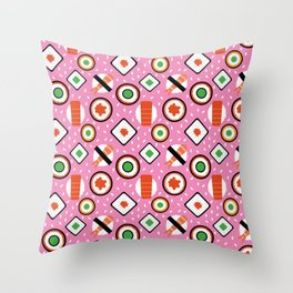 Sushi Pattern Throw Pillow