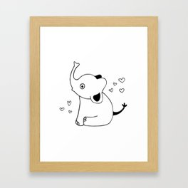 Baby Elephant, kids room and nursery deco Framed Art Print