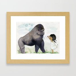 Hug me , Mr. Gorilla Framed Art Print