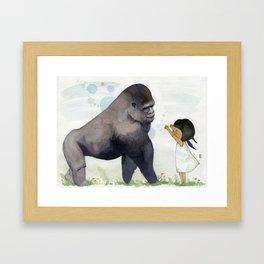 Hug me , Mr. Gorilla Framed Art Print