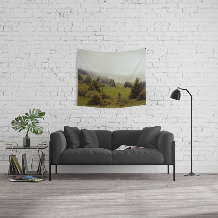 Misty Forest Wall Tapestry