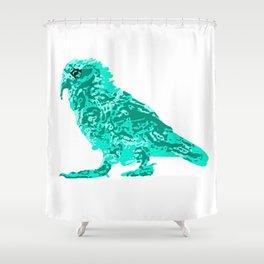Kea Strut - Turquoise Shower Curtain