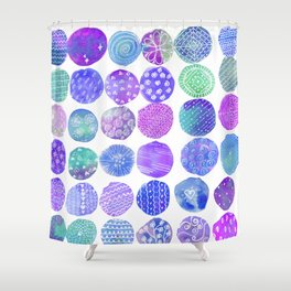 purple and blues Shower Curtain