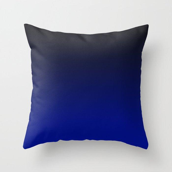 Cobalt blue Ombre Throw Pillow