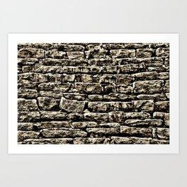 Old Stone Wall #4 Art Print