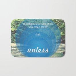 Unless | Blue Bath Mat