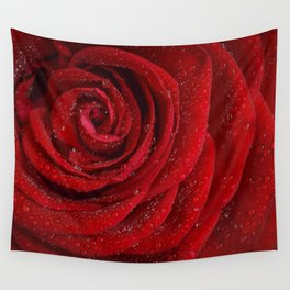 Th red rose Wall Tapestry