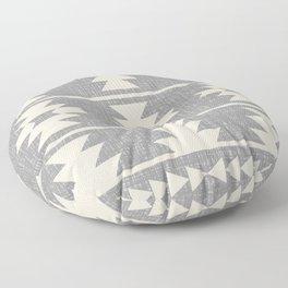 Southwestern Pattern 131 Grey and Beige Floor Pillow