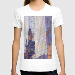 Watercolor painting of the neo-classical facade of the Cathedral on the Plaza de Armas in Santiago, T-shirt