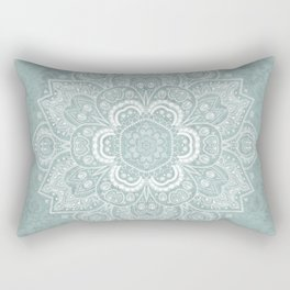 Mandala Temptation in Rustic Sage Color Rectangular Pillow