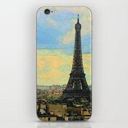 Watercolor Dream of Paris iPhone Skin