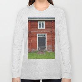 Old black cottage door Long Sleeve T-shirt